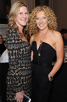 Jane Burton and Kelly Hoppen in evening wear