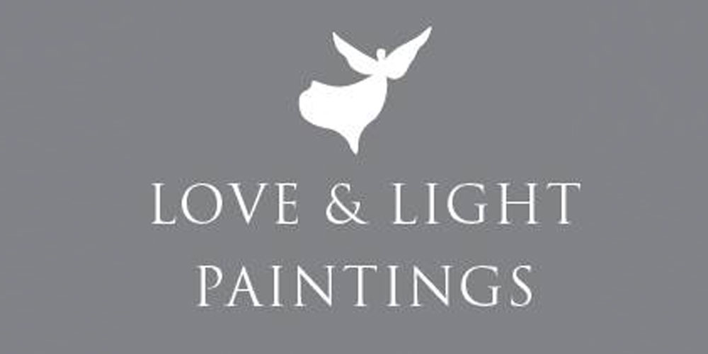 Love and Light paintings self entitled grey logo