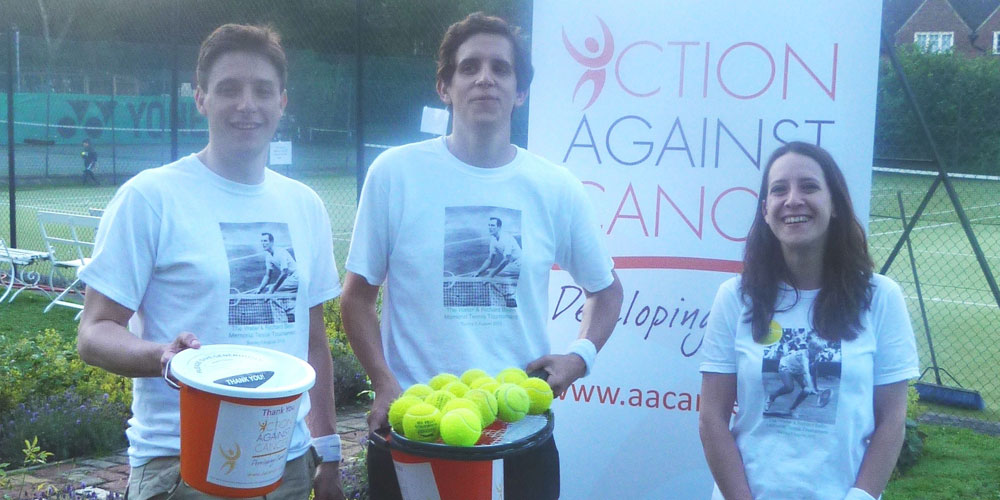 3 tennis players holding tennis balls