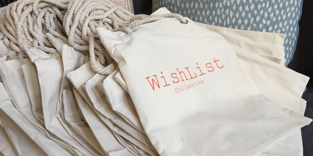 Close up of WishList jupe bag
