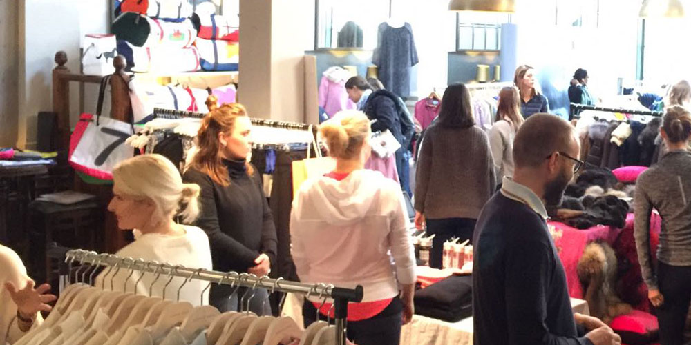 People in shopping in shop